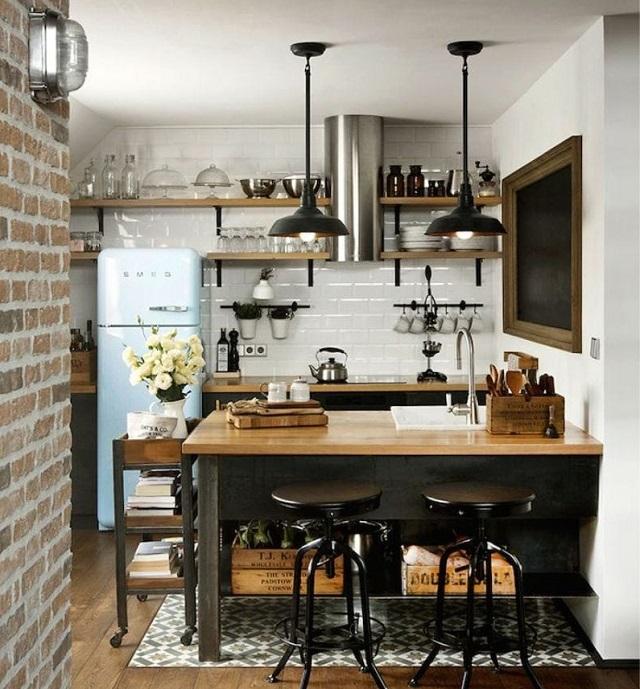 Такой проект вполне может быть реализован в тесной кухне стандартной городской квартиры.