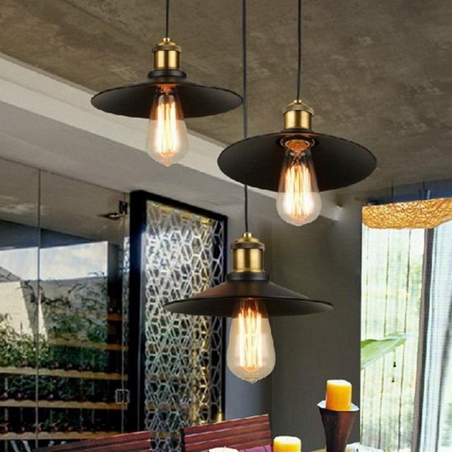 Подвесные светильники в стиле «лофт».