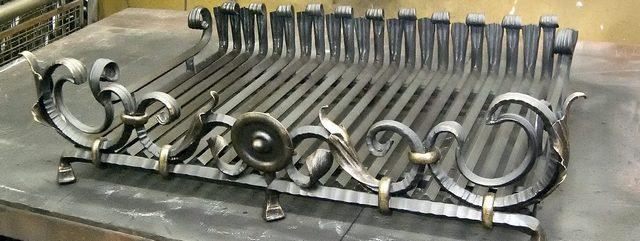 Корзинный колосник для камина, изготовленный мастером по индивидуальному заказу