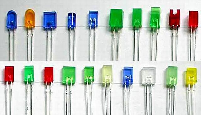 Уже считающиеся устаревшими, но все же еще широко применяемые светодиоды типа DIP