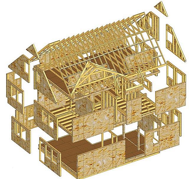 Вариант проекта «Домокомплект», изготавливаемый под заказ.