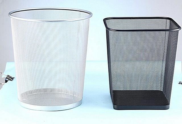 Металлические корзины для офисного мусора – чем не готовые каркасы для абажуров?