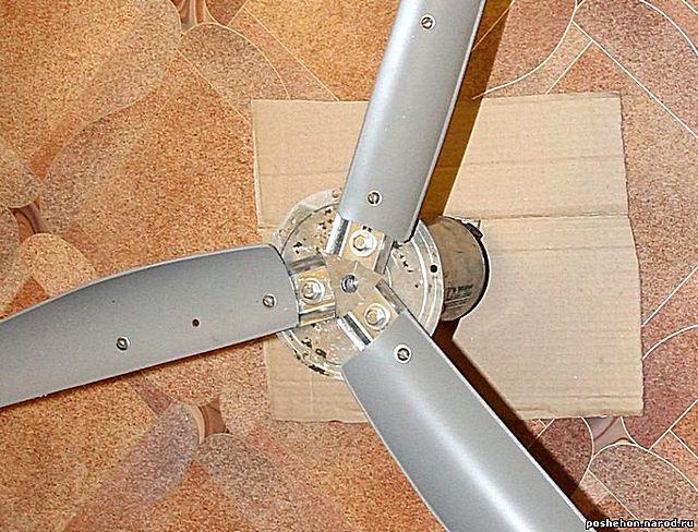 Один из вариантов крепления лопастей в ступице ветряка