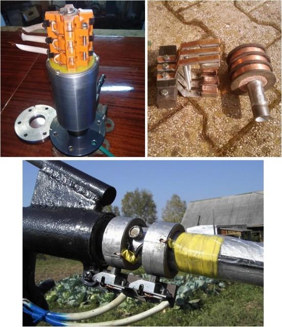 Примеры токосъемных узлов заводского и кустарного изготовления.