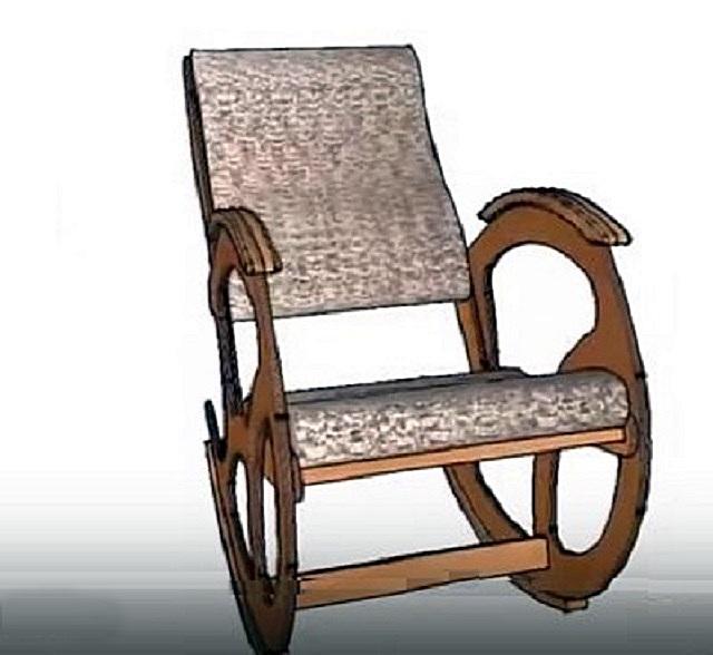 Демонстрируемый вариант кресла оснащен подлокотниками, а также накладками на полозья, которые предотвратят опрокидывание конструкции.
