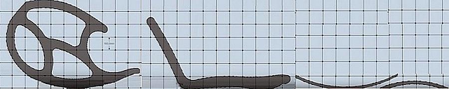 Шаг между линиями сетки составляет 100×100 мм.