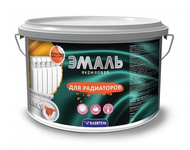 На этикетках краски обычно указывается, что она предназначена (или подходит) для окрашивания радиаторов отопления