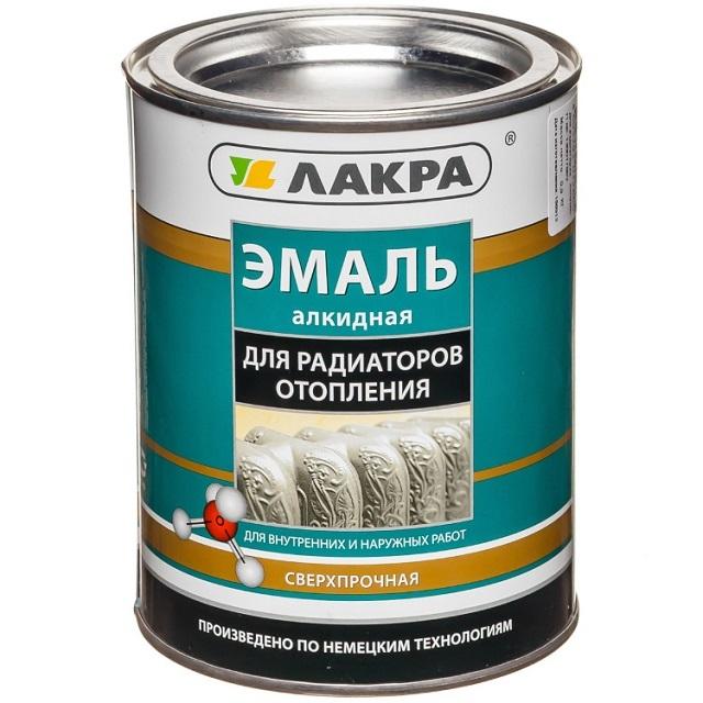Алкидная эмаль, специально предназначенная для покраски батарей, что отражено на этикетке.