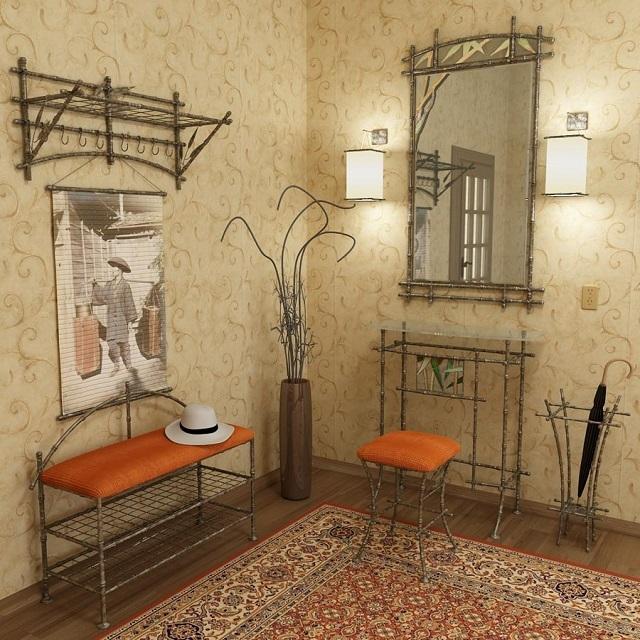 Виниловые обои в интерьере, оформленном в восточном стиле.