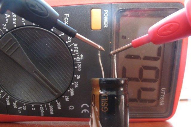Как проверить конденсатор