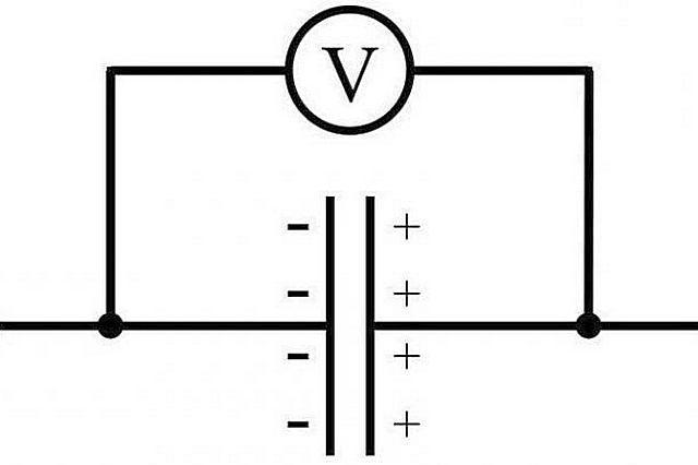 Разделенные тонким просветом токопроводящие пластины имеют свойство накапливать электрический заряд.