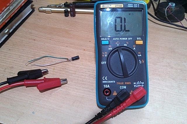 Подготовка к измерениям – мультиметр переведен в режим омметра