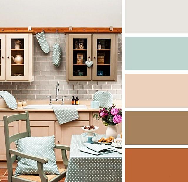 Вариант цветового оформления кухни