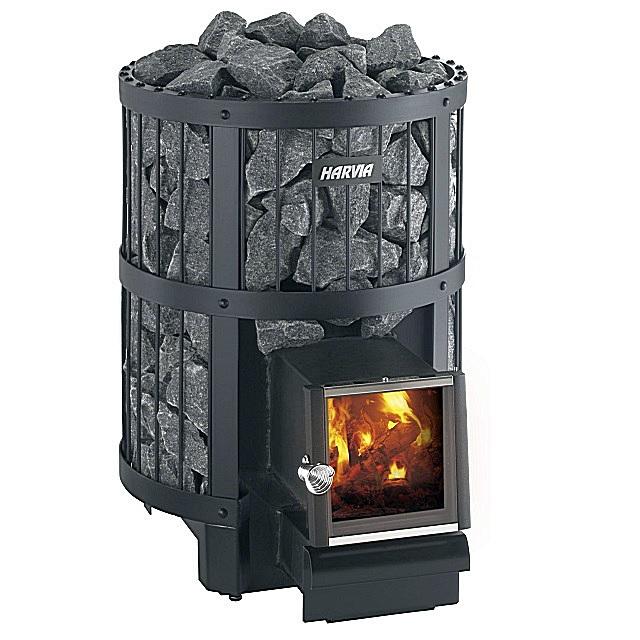 Печь для финской бани с каменкой, закрывающей все боковые поверхности прибора.