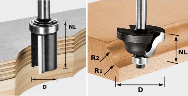 Характерные примеры фрез с вертикальным расположением режущих кромок.
