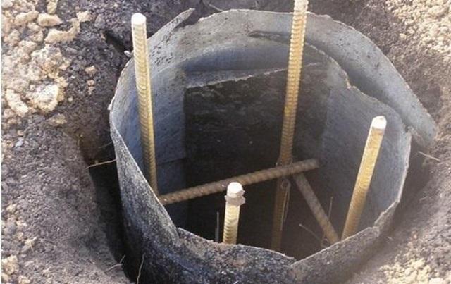 Опалубка из рубероида для заливки бетонного столба – минимальные затраты без потери прочности.