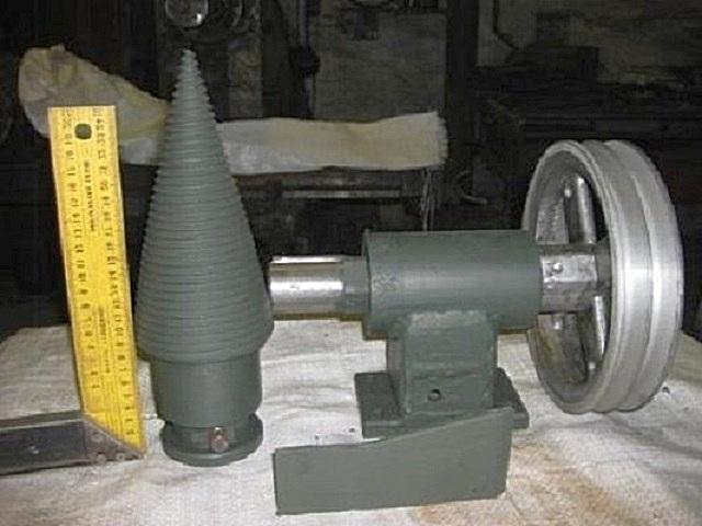 Основные детали и узлы, необходимые для изготовления винтового дровокола.