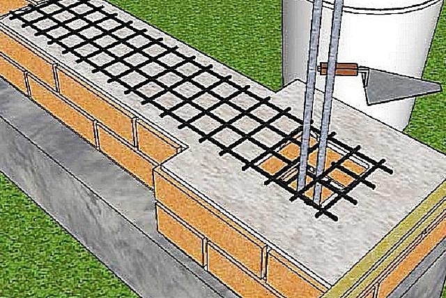 Укрепление связки стены и колонны с использованием металлической сетки