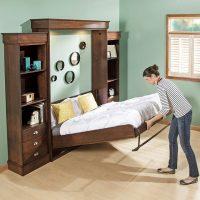 Кровать трансформер для малогабаритной квартиры: фото моделей с рекомендациями
