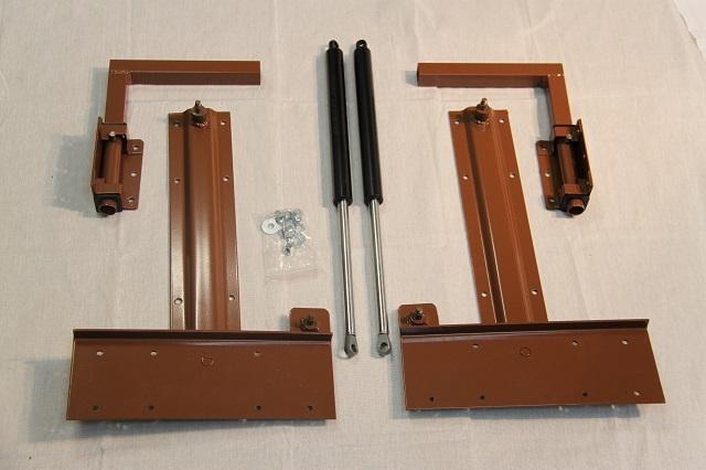 Комплект подъемного механизма с газовыми лифтами для установки на кровати-трансформеры.
