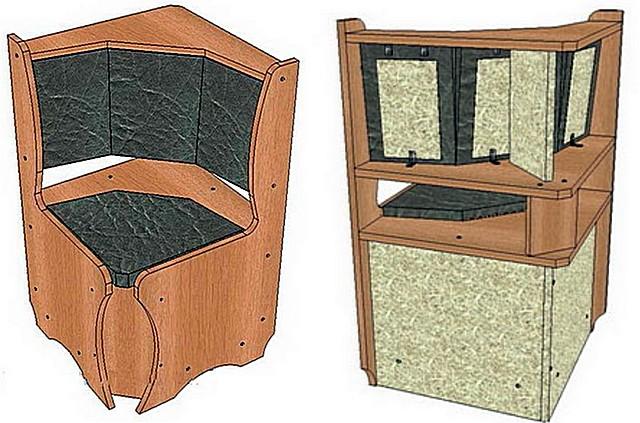 Угловой диванчик, соединявший большой и короткий диваны