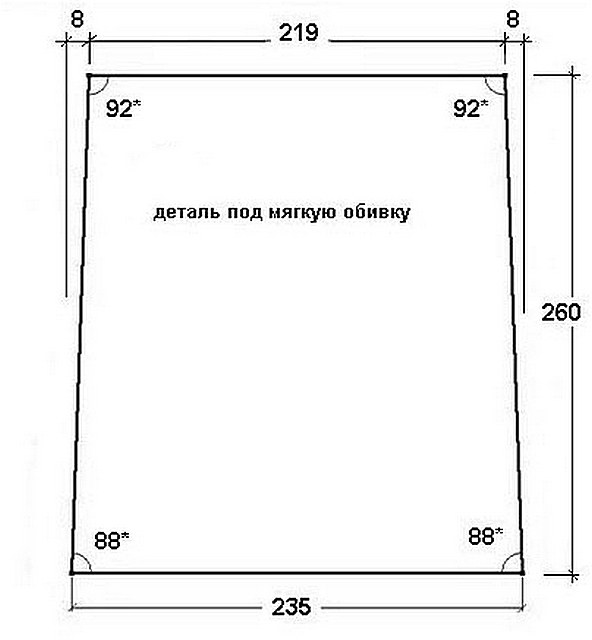 Центральная панель спинки углового диванчика.