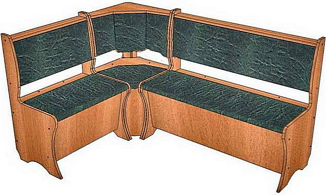 Кухонный уголок, который может быть изготовлен из мебельных листов ДСП или из толстой фанеры
