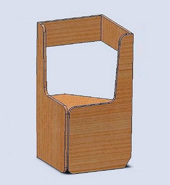 Примерно так может выглядеть соединение боковин двух сходящихся диванов «висячим углом». Здесь потом при желании можно организовать фигурную полку или нишу.
