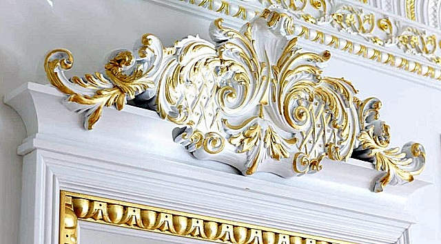 Элементы рельефов стиля «барокко».