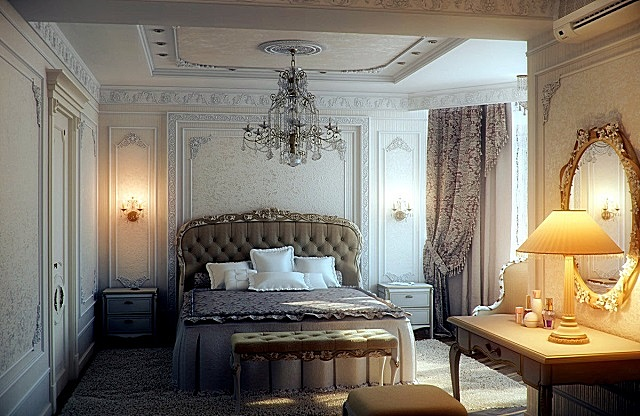 Спальня, оформленная в стиле «романтизма».
