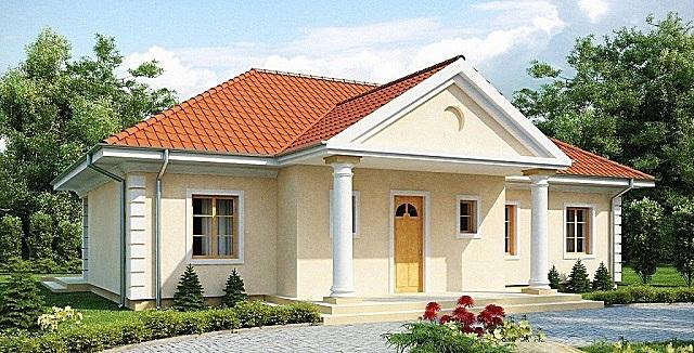 Классическое оформление фасада.