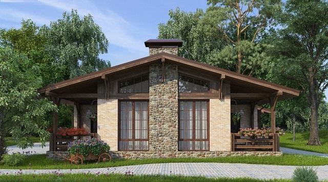 Дом, построенный в стиле «шале».