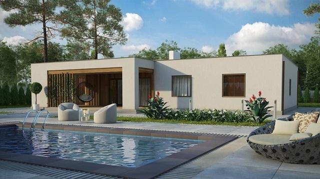 Проект дома в стиле минимализма.