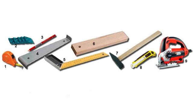 Инструменты, используемые при настиле ламинированного покрытия