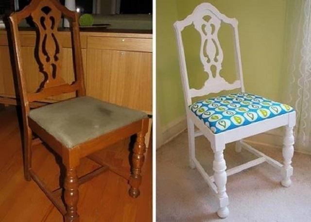 В качестве примера на данном иллюстрации показан полностью обновленный деревянный стул.