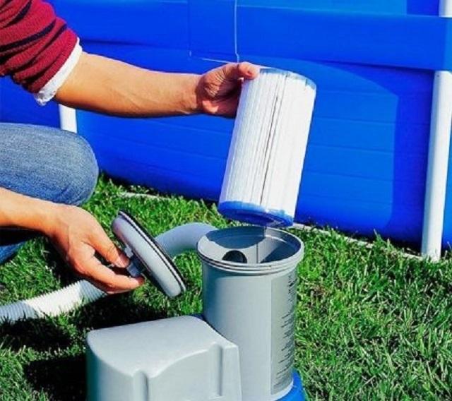 Картрижный вариант очистительной установки для фильтрации воды для бассейна.