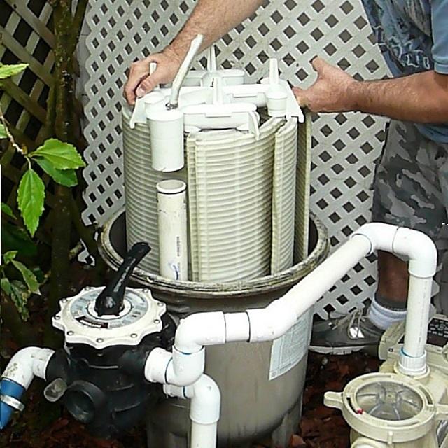 Диатомовый фильтр для очистки бассейна.
