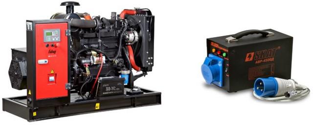 Аппаратура ввода резерва может быть уже установлена на бензиновый или дизельный генератор «по умолчанию». Если нет, то можно приобрести ее отдельным блоком – у большинства электростанций имеется адаптированный для ее подключения разъем.