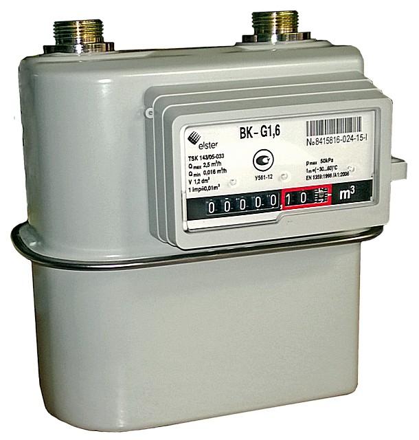 Газовый счетчик «Эльстер Газэлектроника BK-G1,6»