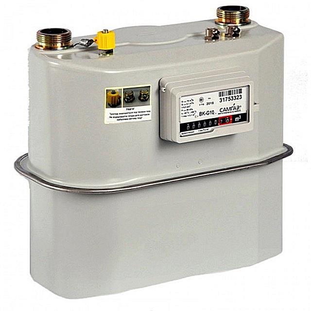 Внешний вид мембранного прибора учета газа