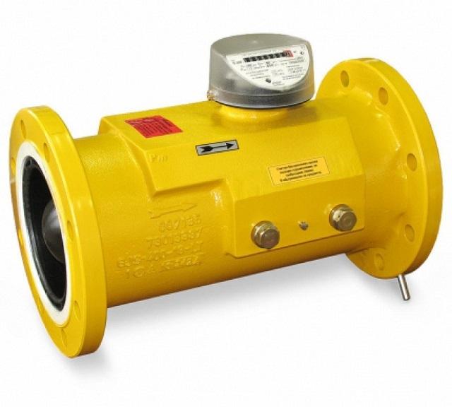Турбинный счетчик учета газа имеет высокую пропускную способность, отличается немалыми габаритами, поэтому относится к промышленным приборам.