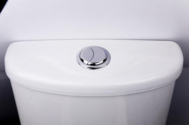 Двойная кнопка слива, позволяющая дозировано использовать воду.