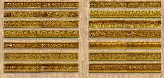 Изготовление деревянных плинтусов, украшенных резьбой – очень трудоёмкий процесс, и это сказывается на стоимости таких изделий.