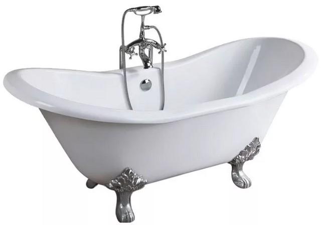Чугунная ванна – это надежность и долговечность, отменное удержание тепла набранной в нее воды. Но – высокая стоимость и выраженная массивность.