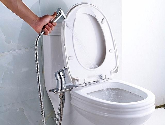 Смеситель, устанавливаемый на чаше унитаза, довольно удобен как в монтаже, так и в эксплуатации.