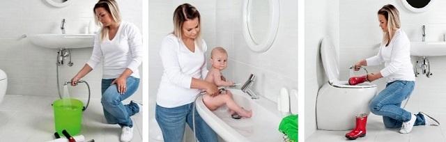 Помимо прямого предназначения, гигиенический душ предоставляет своим хозяевам и еще ряд разнообразных возможностей.