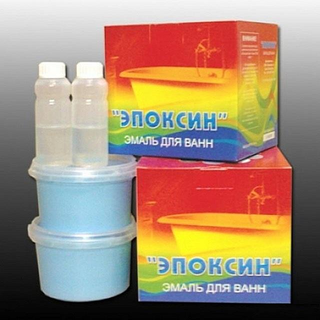 «Эпоксин» — эмаль для восстановления ванн.