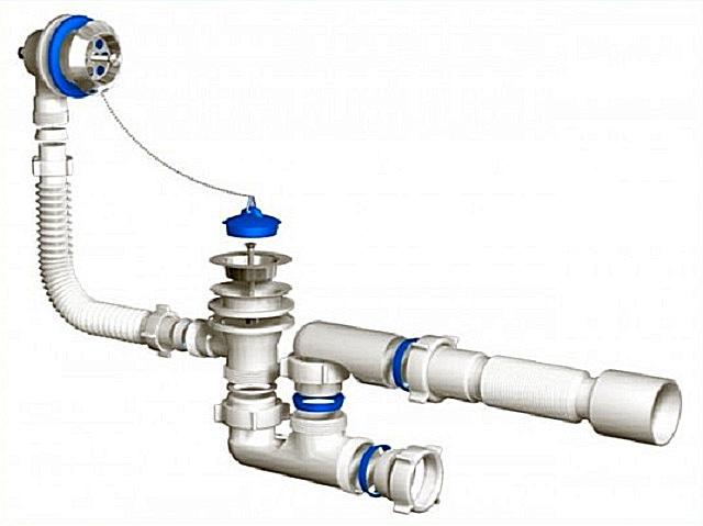 Простой механический вариант системы слив-перелив.