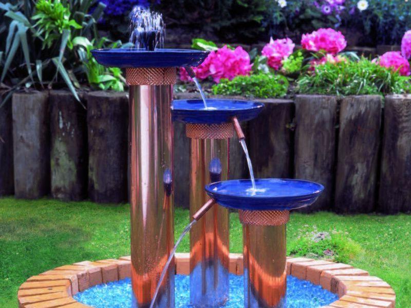 Комбинированный фонтан в современном стиле