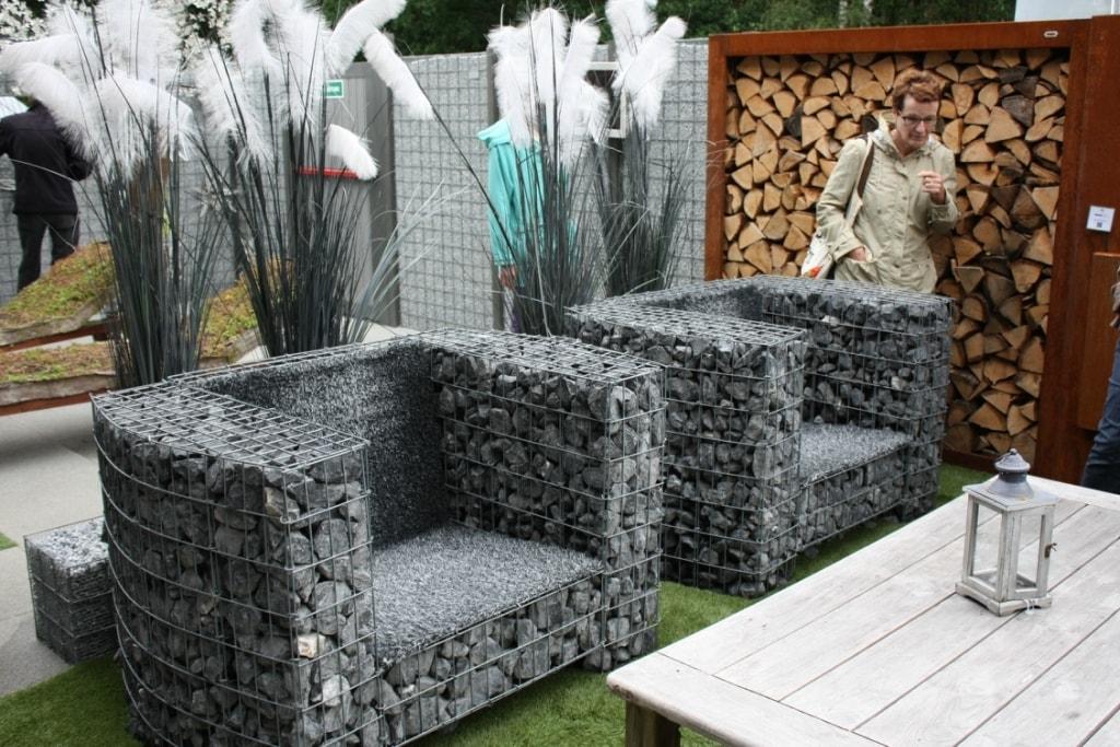 Садовая мебель из габионов